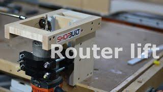 getlinkyoutube.com-Shop built - Router Lift