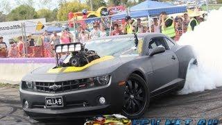 getlinkyoutube.com-KILLA-B BLOWN V8 CAMARO BURNOUT AT LARDNER PARK MOTORFEST 2013