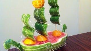 getlinkyoutube.com-Convierte una sandia en un barco, idea para regalar el dia del padre - La receta de la abuelita