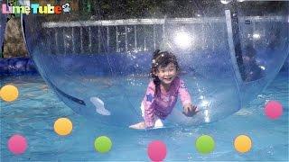 getlinkyoutube.com-물위를 걷다!! 대형 풍선 워터워크 놀이기구를 타요! 서울랜드 3탄 LimeTube & Toy 라임튜브