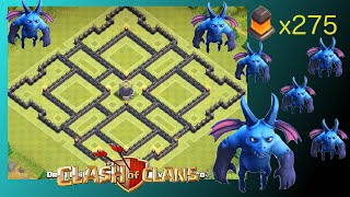 TH10 Dark Elixir Hoarding & Farming Base (275 Walls)(Super Easy & Simple To Make) - Clash Of Clans