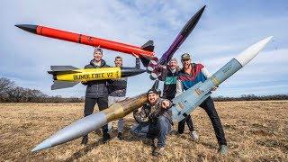 Model Rocket Battle 2 | Dude Perfect