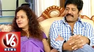 getlinkyoutube.com-Real Star Sri Hari Reveals About Their Love With Disco Shanti  || Life Mates || V6 News
