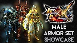 Monster Hunter XX: Male Armor Showcase (LR/HR/GRank) || モンハンXX・防具セット(男性)