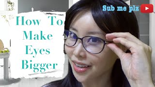 getlinkyoutube.com-How to Make Your Eyes Bigger without Makeup or Plastic Surgery | Part 1