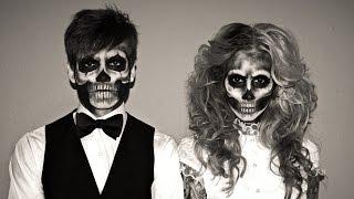 getlinkyoutube.com-Halloween - Skeleton MakeUp & Outtakes :D