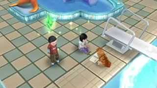 getlinkyoutube.com-Sims FreePlay - Toddler Fun in the Swim Center [Toddler Video]