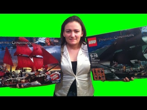 Lego POTC Pirates of the Caribbean 4184 The Black Pearl 4195 Queen Anne's Revenge Comparison Review