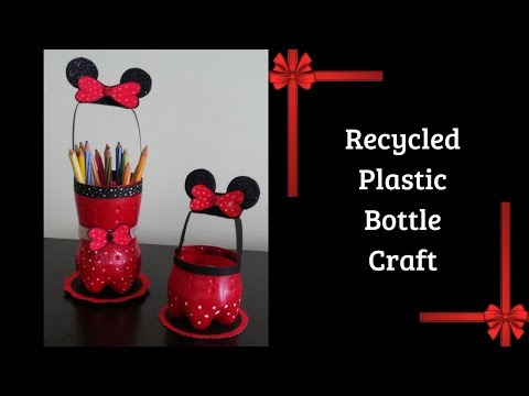 Download Thumbnail For Minnie Mouse Pen Holder Recycle Plastic