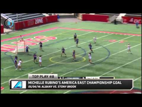 2013-14 Top Play #8 - Stony Brook's Rubino Takes it to the Net