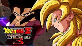 getlinkyoutube.com-The TRUE Legendary Super Saiyan! Gold Goku VS SSJ4 Vegito | Dragon Ball Z: Budokai Tenkaichi 3 MODS