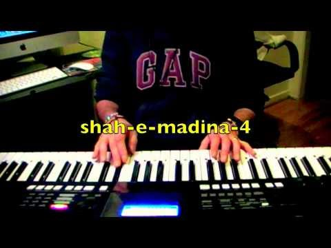 naat : shah e madina with lyrics on keyboard