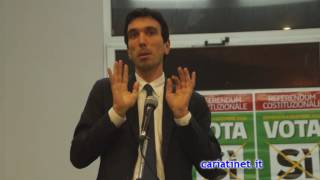 Referendum 4 Dic   Ministro Maurizio Martino Cariati 28 11 2016