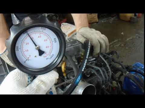 Проверка компрессии на двигателе 2С