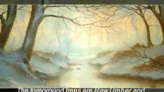 getlinkyoutube.com-WINTER WOODLAND - an oil painting demonstration PART ONE by Alan Kingwell