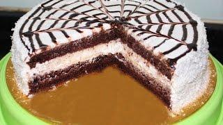 getlinkyoutube.com-Bounty Cake by Seba Nagy -  وصفة كيك الباونتى لصبا محمود ناجى