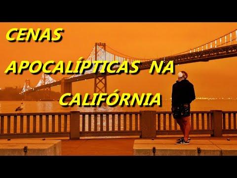 Cenas apocalípticas na Califórnia por causa dos incêndios florestais