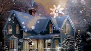 getlinkyoutube.com-ФУТАЖ месяц, домик и снежинки