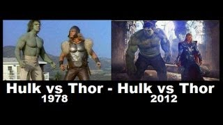 getlinkyoutube.com-Hulk vs Thor 1978 - 2012   [1978 Comparison 2012 ]