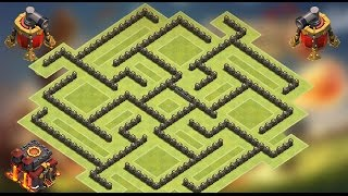 getlinkyoutube.com-Clash of Clans - TH10 Double Air Sweeper Trophy Pushing base
