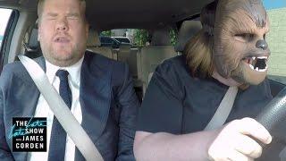 getlinkyoutube.com-Chewbacca Mom Takes James Corden to Work