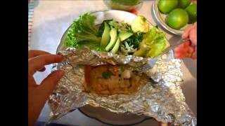 getlinkyoutube.com-Como hacer pescado empapelado | Delicioso pescado empapelado