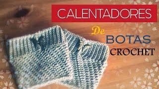 getlinkyoutube.com-CALENTADORES para botas a CROCHET(diestro) - crochet boot cuff (English subtitles)