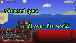 Terraria - Minecart goes all over the world