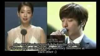 getlinkyoutube.com-Park Shin Hye & Jung Yong Hwa Moments at Baeksang Arts Awards 2015