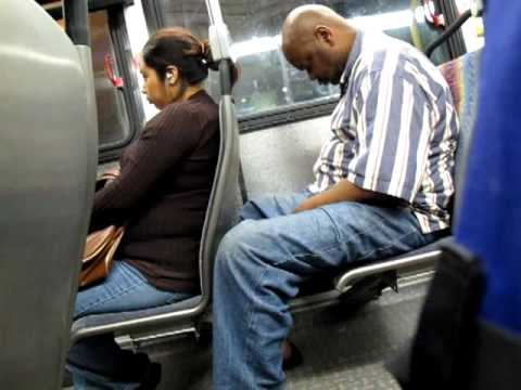 Man Nodding Off on LA Metro Bus