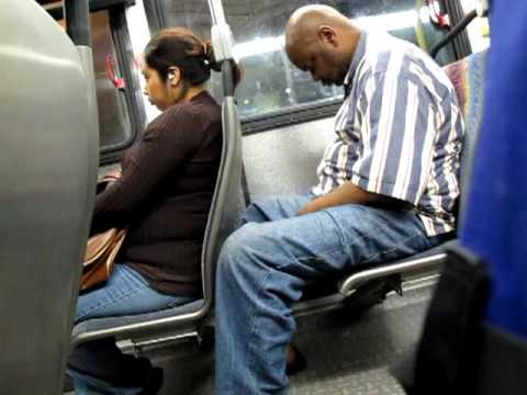 Man Nodding Off on LA Metro Bus