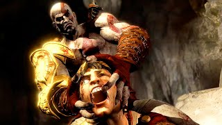 getlinkyoutube.com-God of War 3 Kratos Destroy Hera - Helios and Hephaestus Ruthless Kills