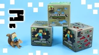getlinkyoutube.com-Minecraft CRAFTABLES Series 1 Blind Box Red Blue Yellow Jinx