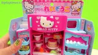 getlinkyoutube.com-Hello Kitty Refrigerator Microwave Oven Playset Play-Doh - itsplaytime612
