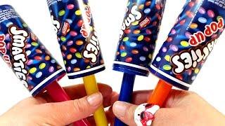 getlinkyoutube.com-Foam Clay Smarties Pop Up Surprise Teletubbies SpongeBob Gangnam Style Fear