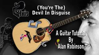 (You're The) Devil In Disguise - Elvis - Acoustic Guitar lesson (easy-ish)