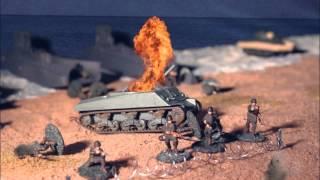 D-Day Omaha Beach Stop Motion Animation - Airfix Movie 60