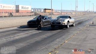 getlinkyoutube.com-LSX NITROUS CAMARO vs NISSAN GT-R & POLICE CHASE