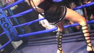 Hot Ring Girl Number 2 Entertains Boxing Fans!