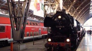 getlinkyoutube.com-Leipzig: Führerstandsmitfahrt mit Dampflok 52 8154-8 (Vereinslok)