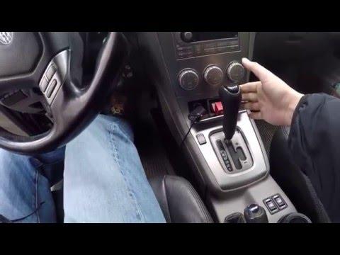 Из режима P (паркинг) не переключается автоматическая коробка передач.Решение проблемы.