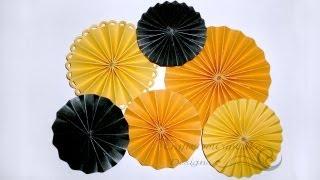 getlinkyoutube.com-How to Make Paper Rosette Flower - Tutorial