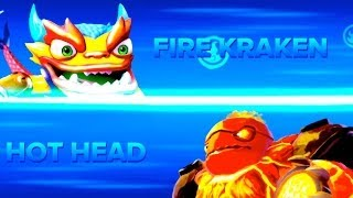 getlinkyoutube.com-Skylanders Swap Force PVP - Fire Kraken VS Hot Head