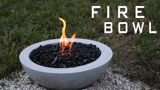 getlinkyoutube.com-How To Make a Concrete Fire Bowl | Gel Fuel