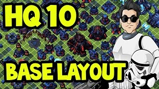 getlinkyoutube.com-BEST HQ 10 DEFENSIVE Base Layout | Star Wars Commander Empire # 151