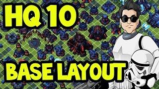 getlinkyoutube.com-BEST HQ 10 DEFENSIVE Base Layout   Star Wars Commander Empire # 151