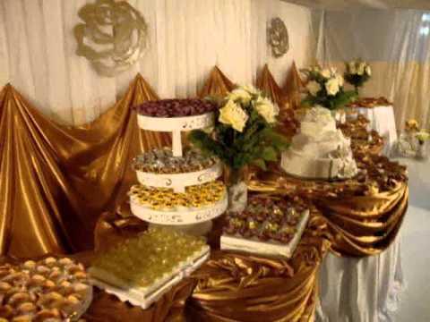 Ornamentação Dourado e Branco - Criat EVA Ouricuri