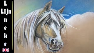 getlinkyoutube.com-How to draw a Palomino Horse in Pastel