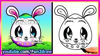 getlinkyoutube.com-How To Draw A Bunny Egg - Fun2draw