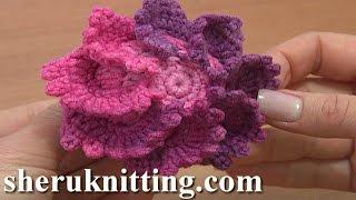Big Crochet Button Fastener Tutorial 4 Part 1 of 3 Crochet Flower Plate